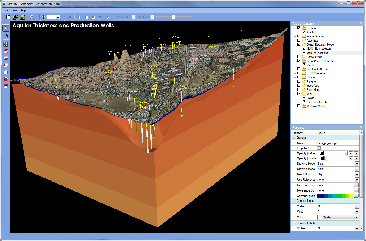 SeerD Simcore Software - Digital elevation model download